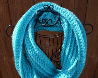 Childs Crochet Ribbed Infinity Scarf