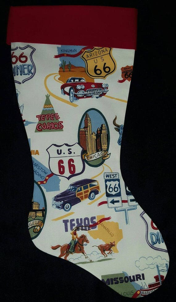 Route 66 Christmas Stocking