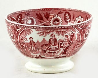 Vintage Dutch bowl Teadrinker red Société Céramique Maestricht