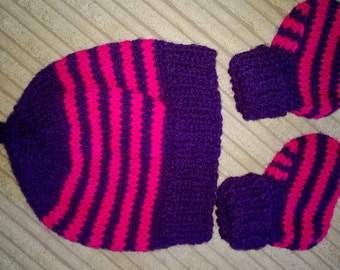 Newborn baby / Bear/Doll  Hat and Bootie set
