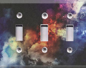 Cosmic Shine Triple Light Switch Cover