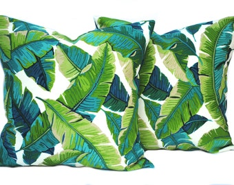 2 Palm pillow covers, cushion, decorative throw pillow, Palm tree pillow, accent pillow, outdoor pillow, pillow case
