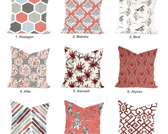 One high quality home decor cover, Toile Pillow, decorative throw pillow, decorative pillow, accent pillow,  Throw Pillow, Red Pillow