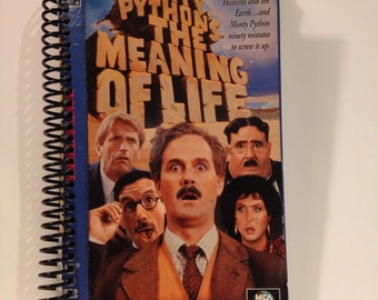 Monty Python's The Meaning of Life Recycled VHS Blank Spiral 100-Page Notebook