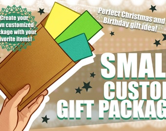SMALL custom gift package | Christmas - Birthday - Gift Idea | 100% customizable