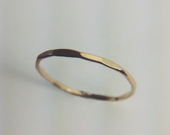 Tiny Hammered Band Ring