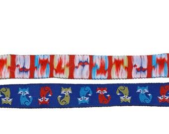 "5/8"" Colorful Fox Jacquard Ribbon"