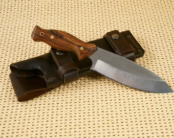 Bushcraft Fixed Blade Full Tang 1095 High Carbon Steel Knife