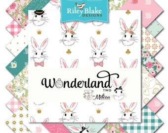 Riley Blake Fabric - Wonderland 2 - Melissa Mortensen - Fat Quarter Bundle - Patchwork, Quilting, Sewing, Fabric