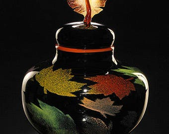 Sale Foliage Art Glass Vessel