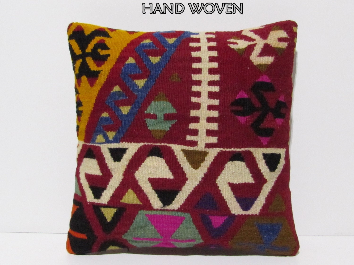 Decorative Western Throw Pillows : authentic kilim pillow 18x18 decorative pillow western pillow