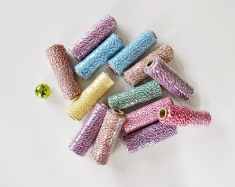 Free Shipping - Baker's Twine 2 spools, Cotton Twine, Colored Twine - choose your color FREE SHIPPING