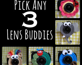Pick Any 3 Camera Lens Buddies - Over 29 Choices - Photography Helper