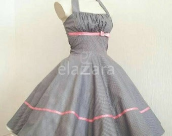 50s prom dress, 50s dress, petticoat dress, Rockabilly dress, Halter dress, bridesmaids dress, prom dress