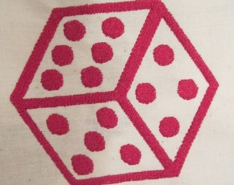 Lucky Dice Machine Embroidery Design