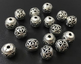 25 pcs x 8 mm Tibetan beads for making jewelry  make your own jewelry. C620
