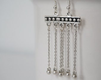 Earrings silver totem.