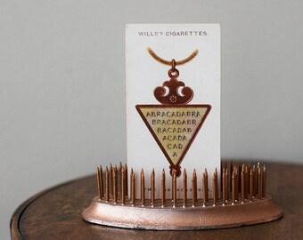 Vintage Flower Frog Copper Metal Oval Pollards Brand