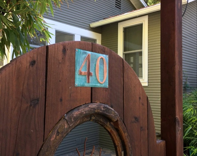"Large Outdoor Copper Number  Address Plaque  2 x nos. 6""/150mm tracked delivery, unique on the web g"