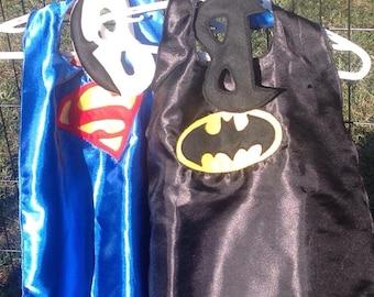 Satin Super Hero Cape, Batman Cape, Dress Up, Kids Costume