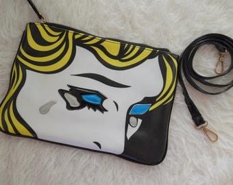 Pop art clutch / cross body purse