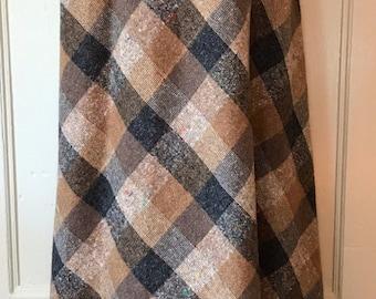 Casual Corner Grey Plaid Circle Maxi Skirt
