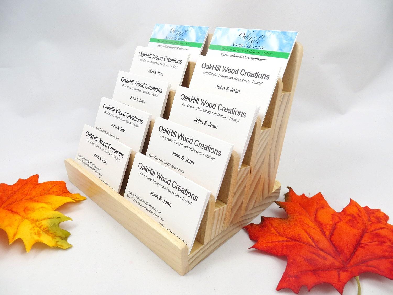 Multiple business card holder 5 tier wood display vertical multiple business card holder 5 tier wood display vertical horizontal cards colourmoves
