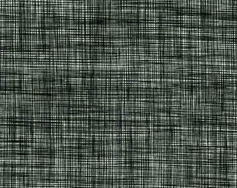 RJR Patrick Lose Basically Patrick Black White woven look fabric 2031-022 BTY