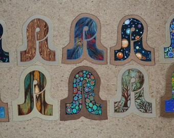 Pretty Lights assorted patches on corduroy