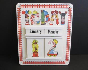 Calendars, Childrens Calendar, Learning Tools, Learning Calendars, Bellei Calendars, Bellei, 1973 Bellei Calendar, Childrens, Childrens Toys