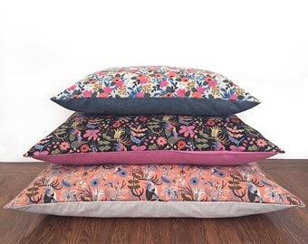 Rifle Paper Co. Dog Bed Cover, Limited Edition Pet Bed Cover, Dog or Cat Bed Duvet, Modern Pillow-Style Cover for Small to Large Dog Beds