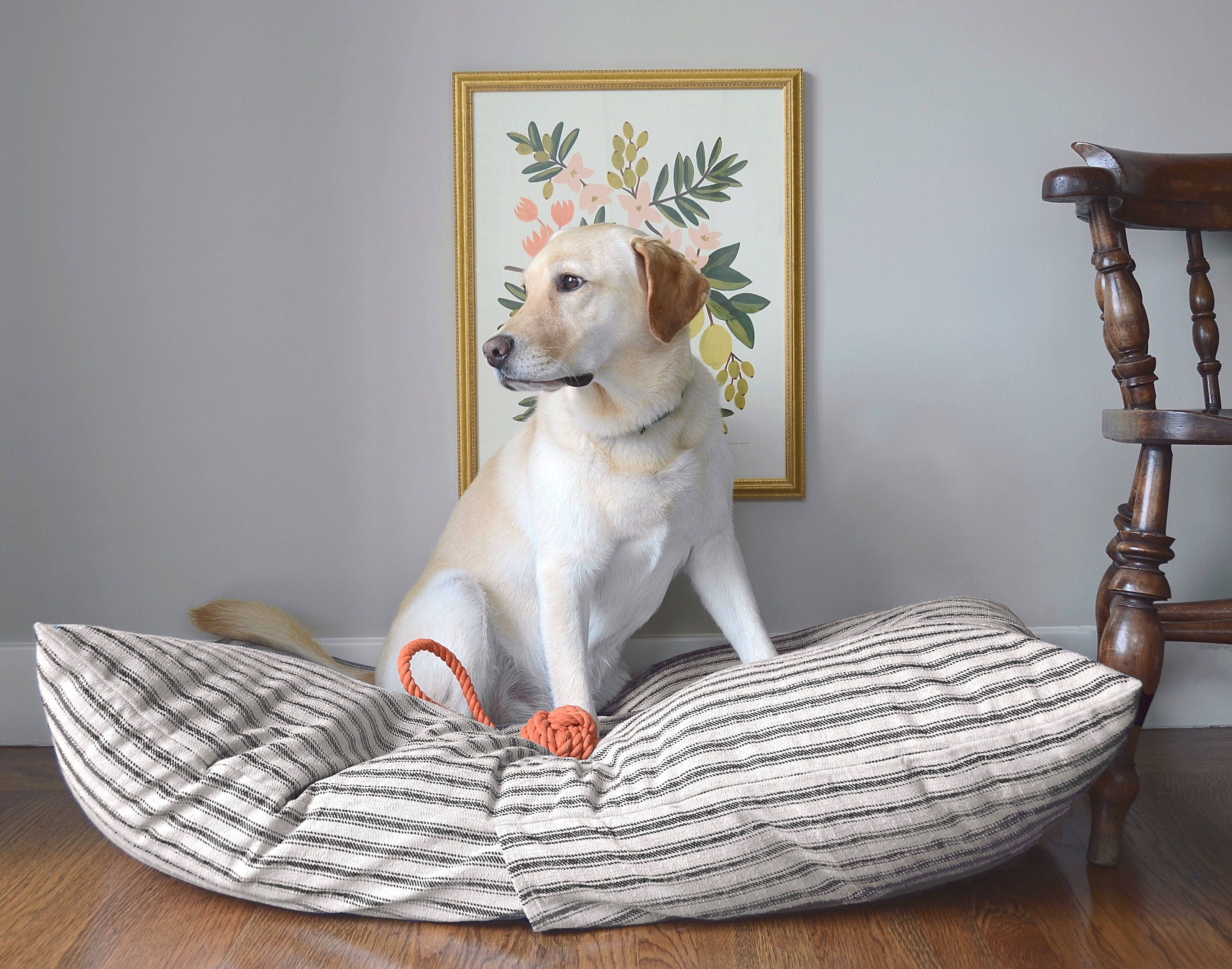 covered dog bed ticking stripe bed cover custom pet bed cover bed 28760