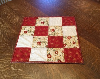 Quilted table topper, Christmas table topper, quilted Christmas table topper, Table topper, Christmas table mat