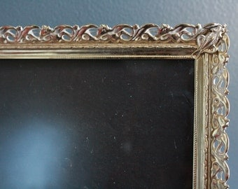 Ornate Gold Vintage Picture Frame. 8 by 10 Inch Ornate Gold Frame. Ornate Picture Frame. Brass Frame. Art Deco Frame.