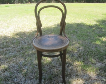 J & J Kohn chair, wood chair, antique chair, ice cream parlor chair, dining chair,Shabby Chic Furniture, Bentwood Chair