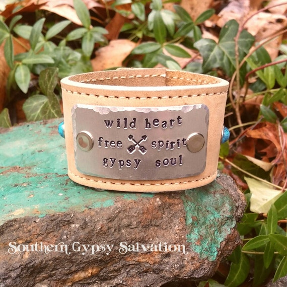 wild heart free spirit gypsy soul leather belt cuff. Black Bedroom Furniture Sets. Home Design Ideas