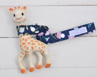Toy Leash / Toy Strap - Enchanted Blossom Navy Floral