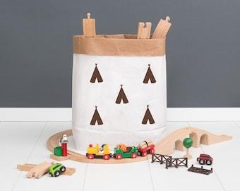 Paper bag M - small tipi brown - powder cloud