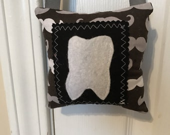 Tooth Fairy Pillow, Mustache Tooth Fairy Pillow, boys tooth fairy pillow