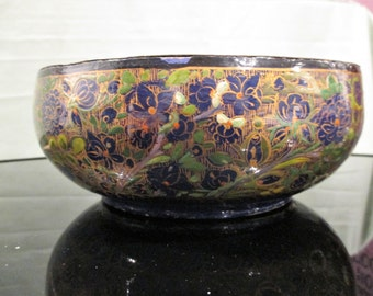 Brass lined Paper Mache Lacquered Bowl