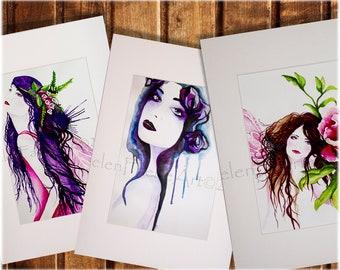 Mounted Art Print, Home Decor, Wall Decor, Mounted Print, Fairy Print, Wall Art, Flower Fairy Art, Ready to Frame, Art Print, Mounted Art