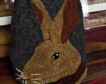 Jack, spring hanging pocket rug hooking pattern.