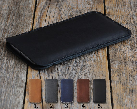 iPhone X 8 7 SE 6 6S Plus Case Cover. Genuine Waxed Real Leather 5 5s 4 4s Sleeve. Rough Vintage Style Pouch Shell Custom Sizes