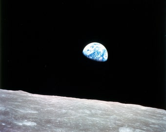 Earthrise, Earth from the Moon, Earth Rise, Satellite Photo