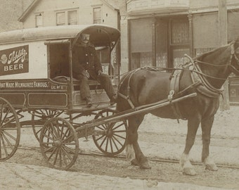 Schlitz Beer Wagon, Early 1900's, Milwaukee/ Oshkosh, Wisconsin, Wagon Print