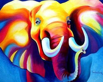 5x7 Print elephant