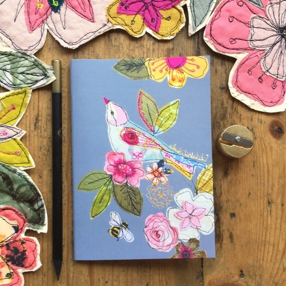 Pocket notebook- garden bird