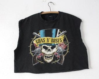 L/XL Vintage 1980s Guns N' Roses Crop Top