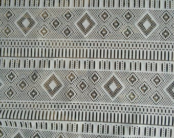 Curtain Panel French Vintage White Sheer Lace Curtain Panel