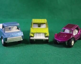 Set of Three 1960's Die Cast Tootsietoy Toy Vehicles - Chicago USA